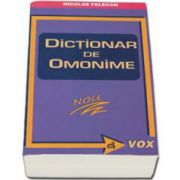 Nicolae Felecan, Dictionar de omonime
