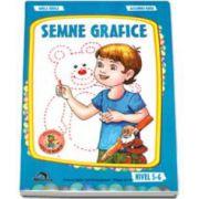 Semne grafice, nivel 5-6 ani - Colectia, leo te invata (Editie, 2014)