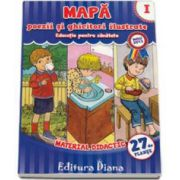 Mapa poezii si ghicitori ilustrate volumul I - Educatie pentru sanatate (Material Didactic 27 de planse)