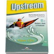 Curs pentru limba engleza. Upstream Intermediate B2 (3rd Edition). Class CD Students Book and Workbook - Editie revizuita (Set 5 CD)