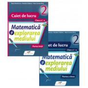 Matematica si explorarea mediului, caiet pentru clasa I. Set 2 caiete - Semestrele I si II