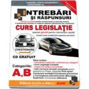 Intrebari si Raspunsuri 2015, pentru obtinerea permisului auto categoriile A si B. Contine CD, gratuit cu program de simulare a examenului