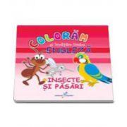 Roxana Geanta, Coloram si invatam limba engleza, Volumul 3 - Insecte si pasari