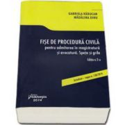 Fise de procedura civila pentru admiterea in magistratura si avocatura. Spete si grile - Editia a II-a, Actualizat - Legea 138-2014