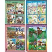 Set 4 caiete, pentru Clasa Pregatitoare Semestrul II