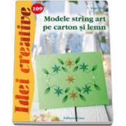 Modele string art pe carton si lemn. Ide creative 109