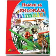 Carte de colorat. Haideti sa coloram Animale, format A4