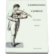 Capricii pentru viola opus 22. Partituri instrumentale, coarde - viola solo si 2-3 viole