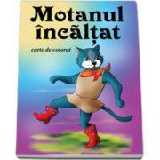 Motanul incaltat - Carte de colorat, format 16, 5x23, 5 cm