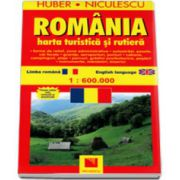 Huber. Harta Romania - Turistica si rutiera (La scara de 1: 600. 000)