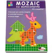 Mozaic cu autocolante. Fii creativ! Recunosti usor culorile si imaginile. Construiesti mozaicuri. Colorezi imagini