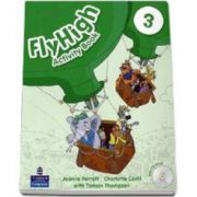 Curs de limba engleza Fly High level 3 Activity Book with CD-Rom (Charlotte Covill)