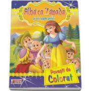Alba ca Zapada - Povesti de colorat