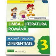 Daniela Berechet - Limba si literatura romana, pentru clasa a III-a - CONSOLIDARE. Modalitati de lucru diferentiate
