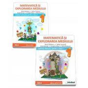 Set 2 caiete - Matematica si explorarea mediului, pentru clasa I. Caietul elevului pentru semestrele I si II (Mirela Mihaescu)