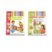 Set de 2 caiete pentru gradinita, nivel 4-5 ani. Domeniul Limba si Comunicare, Domeniul Stiinte - Cunoasterea Mediului si Activitate Matematica - Editia 2015