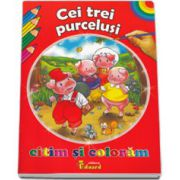 Cei trei purcelusi. Citim si coloram