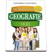 Memorator de geografie pentru liceu - 2016