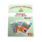 Europa. Tari si capitale - Carti de joc educative