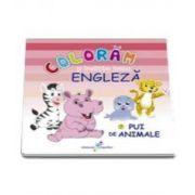 Roxana Geanta, Coloram si invatam limba engleza, volumul 7 - Pui de animale