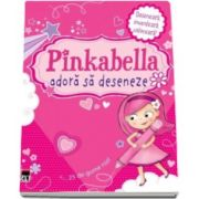 Pinkabella adora sa deseneze - Deseneaza, inventeaza, coloreaza