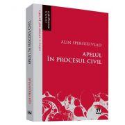 Alin Speriusi Vlad, Apelul in procesul civil