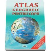 Atlas geografic pentru copii. 35 de harti detaliate si poster cu harta lumii