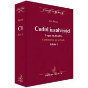 Turcu Ion, Codul insolventei. Legea nr. 85/2014. Comentariu pe articole - Editia 5