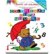 Coloreaza dupa numere - Invat sa colorez (Colectia Superpitici 2-5 ani)