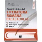 Pregatire intensiva - Literatura Romana Bacalaureat. Indrumari. Concepte operationale. Eseuri - Ion Popa si Marinela Popa