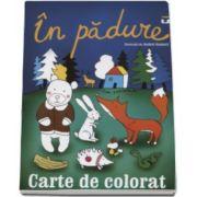 In padure - Carte de colorat - Ilustratii de Andrei Gamart