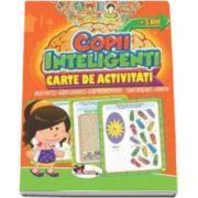 Jocuri pentru copii inteligenti, 5 ani. Carte de activitati - Uneste punctele, gaseste diferentele, alege perechile potrivite, cuvinte incrucisate, labirinturi