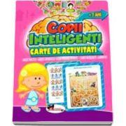 Jocuri pentru copii inteligenti, 7 ani. Carte de activitati - Uneste punctele, gaseste diferentele, alege perechile potrivite, cuvinte incrucisate, labirinturi