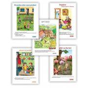 Carti uriase pentru clasa pregatitoare - Semestrul I - Set de 5 carti uriase