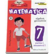 Matematica -CONSOLIDARE- Algebra si Geometrie, pentru clasa a VII-a. Partea I, semestrul I - Colectia mate 2000+