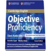 Annette Capel - Objective Proficiency 2nd Edition Class Audio CDs (2) - Pentru clasa a XII-a