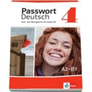 Passwort Deutsch 4 Kurs- und Ubungsbuch und Audio-CD - Curs si carte de exercitii pentru clasa a XI-a L2 (Contine CD audio)