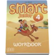 H. Q. Mitchell - Smart Junior 4 Workbook - Limba moderna engleza, caietul elevului pentru clasa a IV-a (Contine CD)