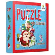 Puzzle de Craciun - Trei puzzle-uri cu piese mari