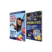 Set, legislatie rutiera 2017, pentru obtinerea permisului de conducere auto - CATEGORIA B. Curs de legislatie 2017 si Intrebari si raspunsuri 2017