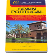 Harta rutiera Spania si Portugalia - Scara: 1: 1500000
