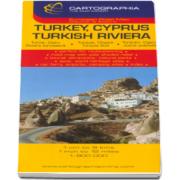 Harta rutiera Turcia (Cipru si Riviera Turciei) - Scara: 1: 9000000