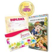 Pachet de baza pentru clasa a II-a - Caiet de vacanta cu diploma, medalie si caiet cu jocuri amuzante