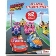 Disney, Mickey si pilotii de curse. Pe locuri! Fiti gata! Start! 32 de planse de colorat