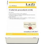 Codul de procedura civila - Actualizat la 2. 05. 2017. Include ICCJ (RIL) nr. 2-2017 (nepublicata) (Cod 639)