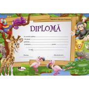 Diploma - Format A4, model imagine girafa