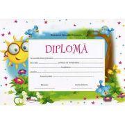 Diploma - Format A4, model imagine soare