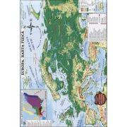 Marius Lungu, Europa. Harta fizica si harta politica - Contine harti climatice, harta fluviilor si lacurilor (Conform programei scolare in vigoare)