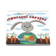 Iepurasul curajos - Pliant cartonat cu imagini color (Varsta recomandata: 1-3 ani)