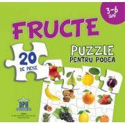 Fructe - Puzzle pentru podea cu 20 de piese - Varsta recomandata 3-6 ani